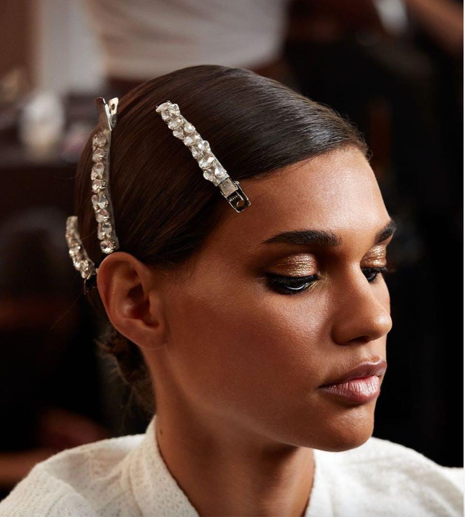 hair accessories at London Fashion Week